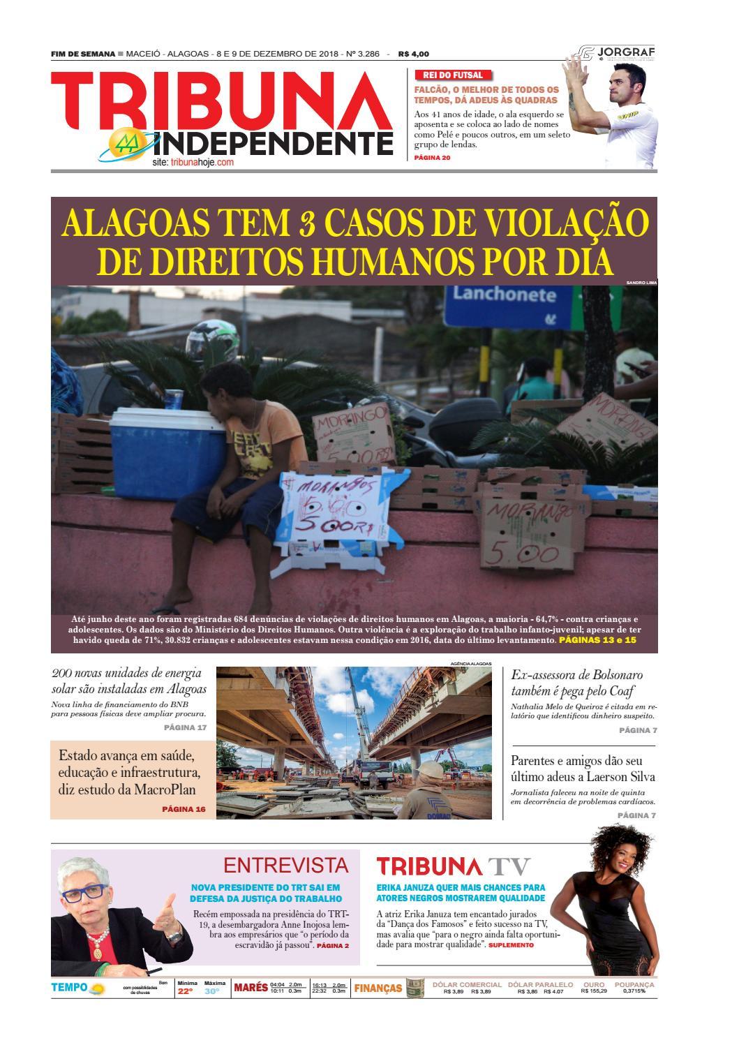 9c802f21fd281 Edição número 3286 - 8 e 9 de dezembro de 2018 by Tribuna Hoje - issuu