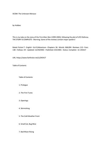 XCOM fanfic part 1/2 by Tomasz Zakrzewski - issuu