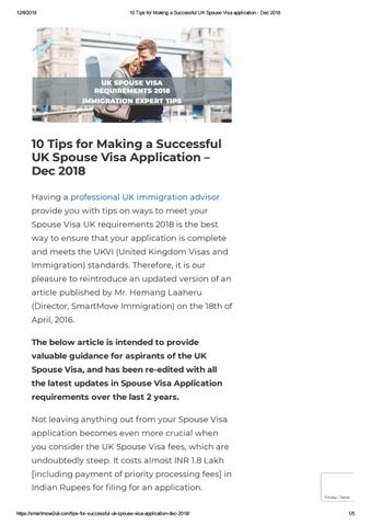 10 Tips for Making a Successful UK Spouse Visa Application