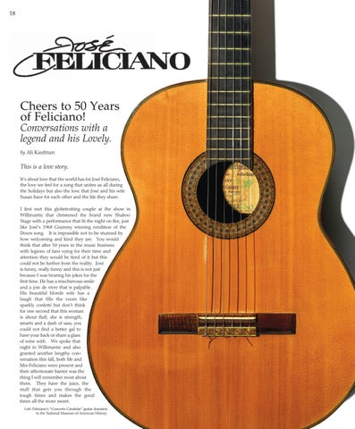Page 18 of Cheers to 50 Years of Jose Feliciano! Conversations with a legend and his Lovely.