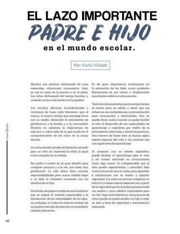 Page 60 of El lazo importante padre e hijo en el mundo escolar, Por: Karla Villado