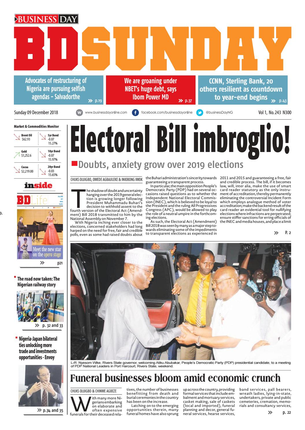 BusinessDay 09 Dec 2018 by BusinessDay - issuu