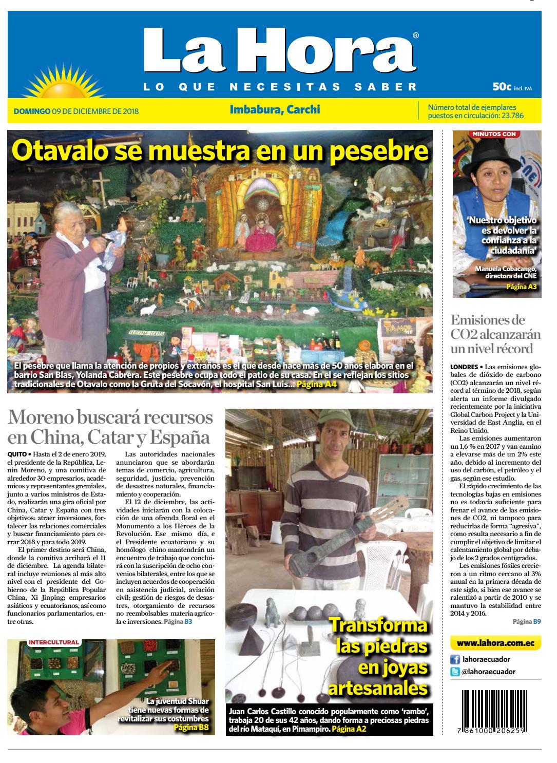 Issuu Diciembre 09 Diario La Hora De 2018 Imbabura Ecuador By oreQCBdxEW