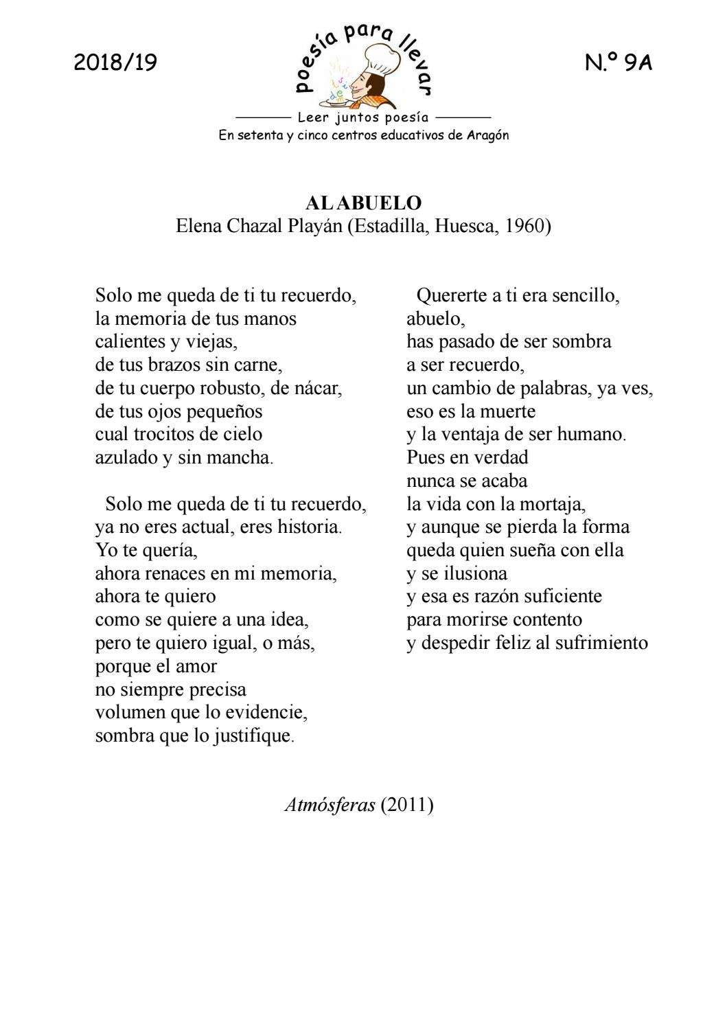 PPLL1819_9A_ Elena Chazal «Al abuelo» by Poesía para llevar