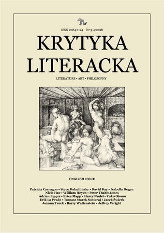 Krytyka Literacka Autumnwinter 2018 English Edition By
