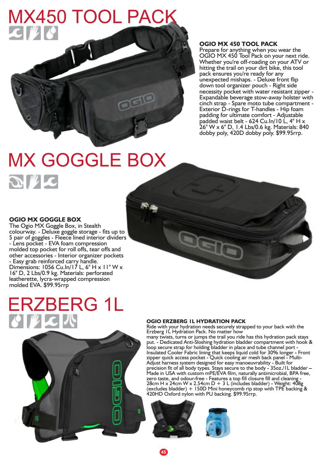 Stealth Ogio MX Goggle Box Outdoor Moto Bag