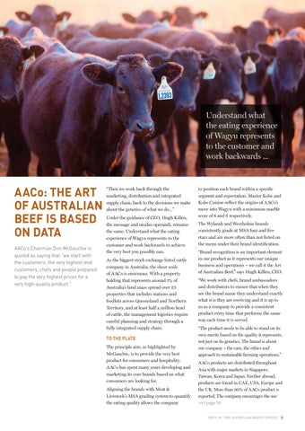 Page 9 of AACo: The Art of Australian Beef is based on data