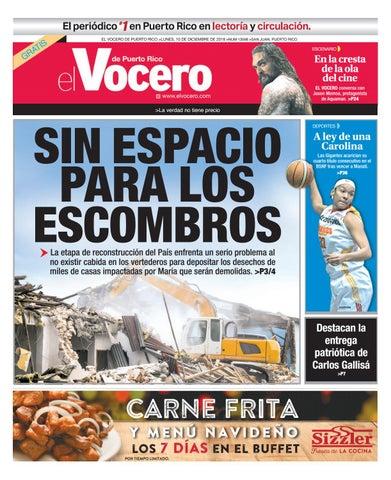 cd21b6128b Edición  14 de diciembre de 2018 by El Vocero de Puerto Rico - issuu