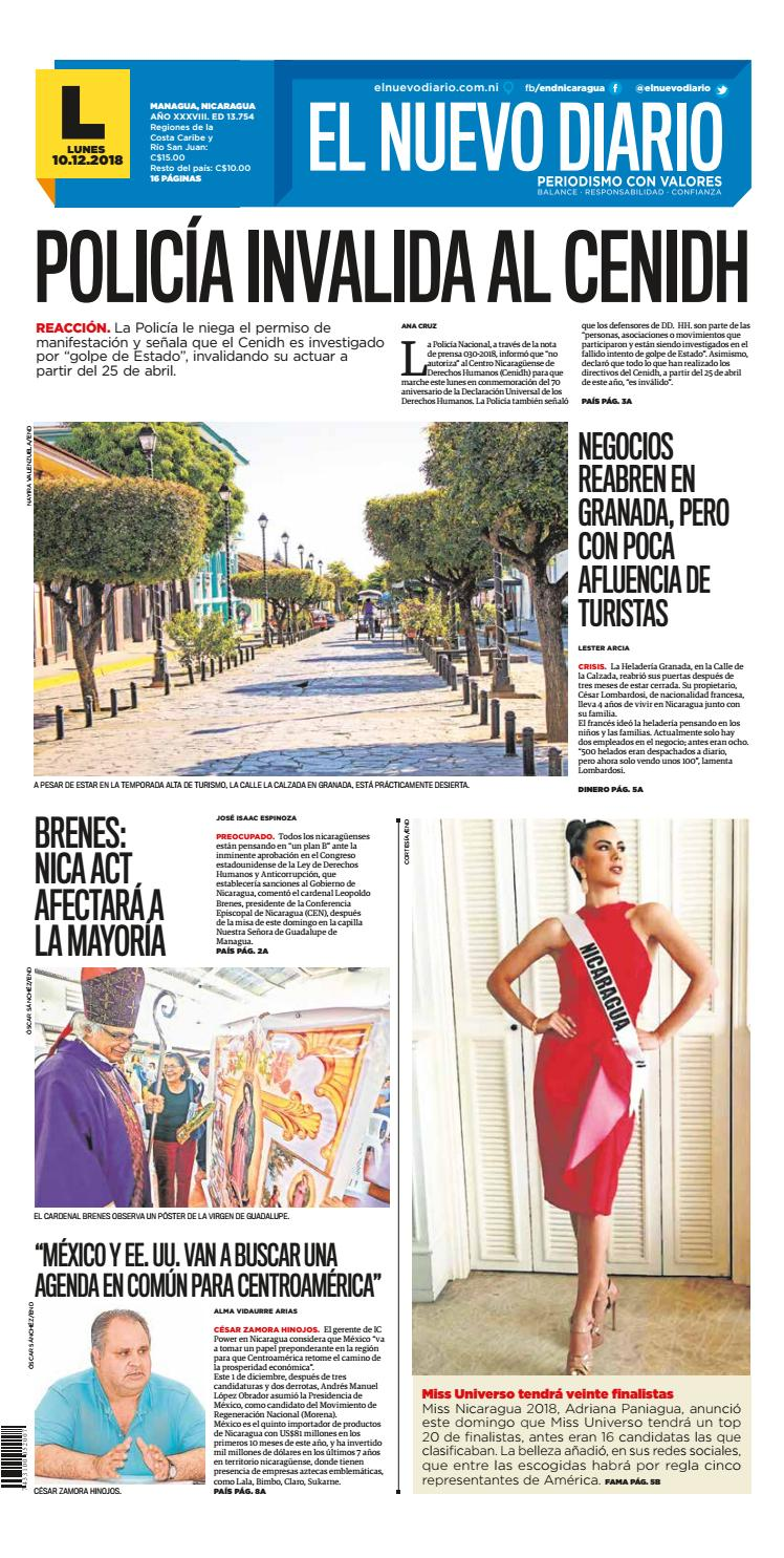 ePaper El Nuevo Diario 10 de Diciembre 2018 by El Nuevo Diario - issuu b52cdea981d