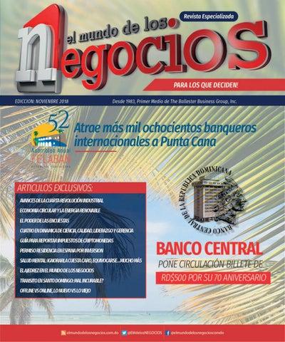 3be3833d987e1 Revista EL MUNDO DE LOS NEGOCIOS (Nov. 2018) by The BALLESTER ...
