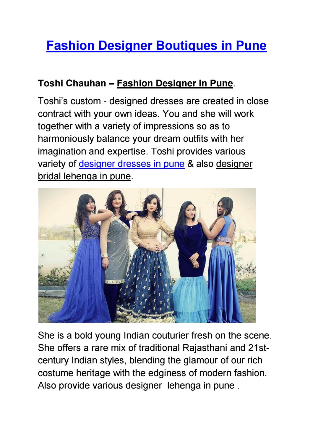 Fashion Designer Boutiques In Pune By Alpita Kavitake Issuu