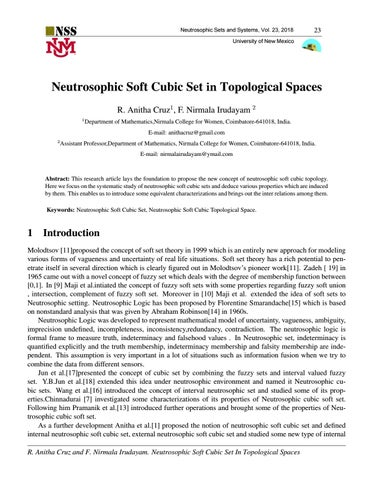 Neutrosophic Soft Cubic Set in Topological Spaces by Ioan