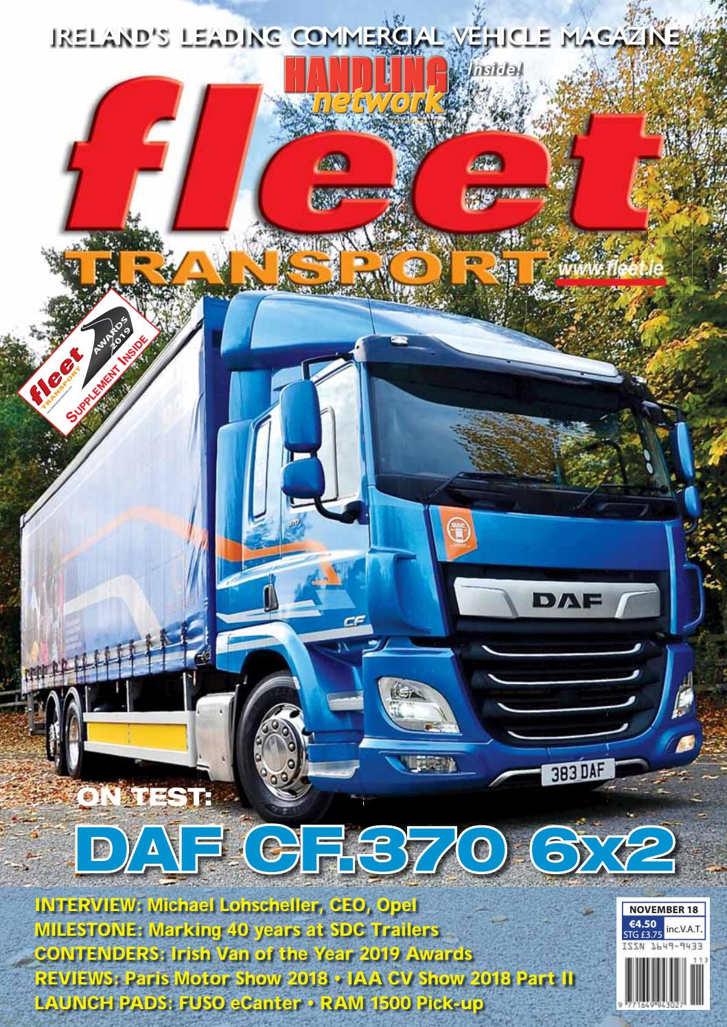 Fleet Transport Nov 18 By Issuu Simple Choc Block Supply L200