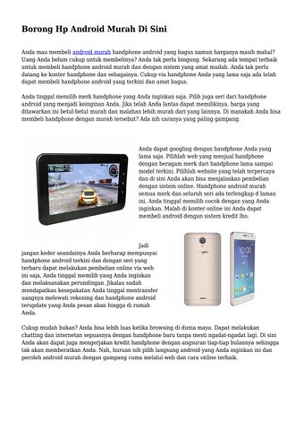 Borong Hp Android Murah Di Sini By Wowteknogrup Issuu