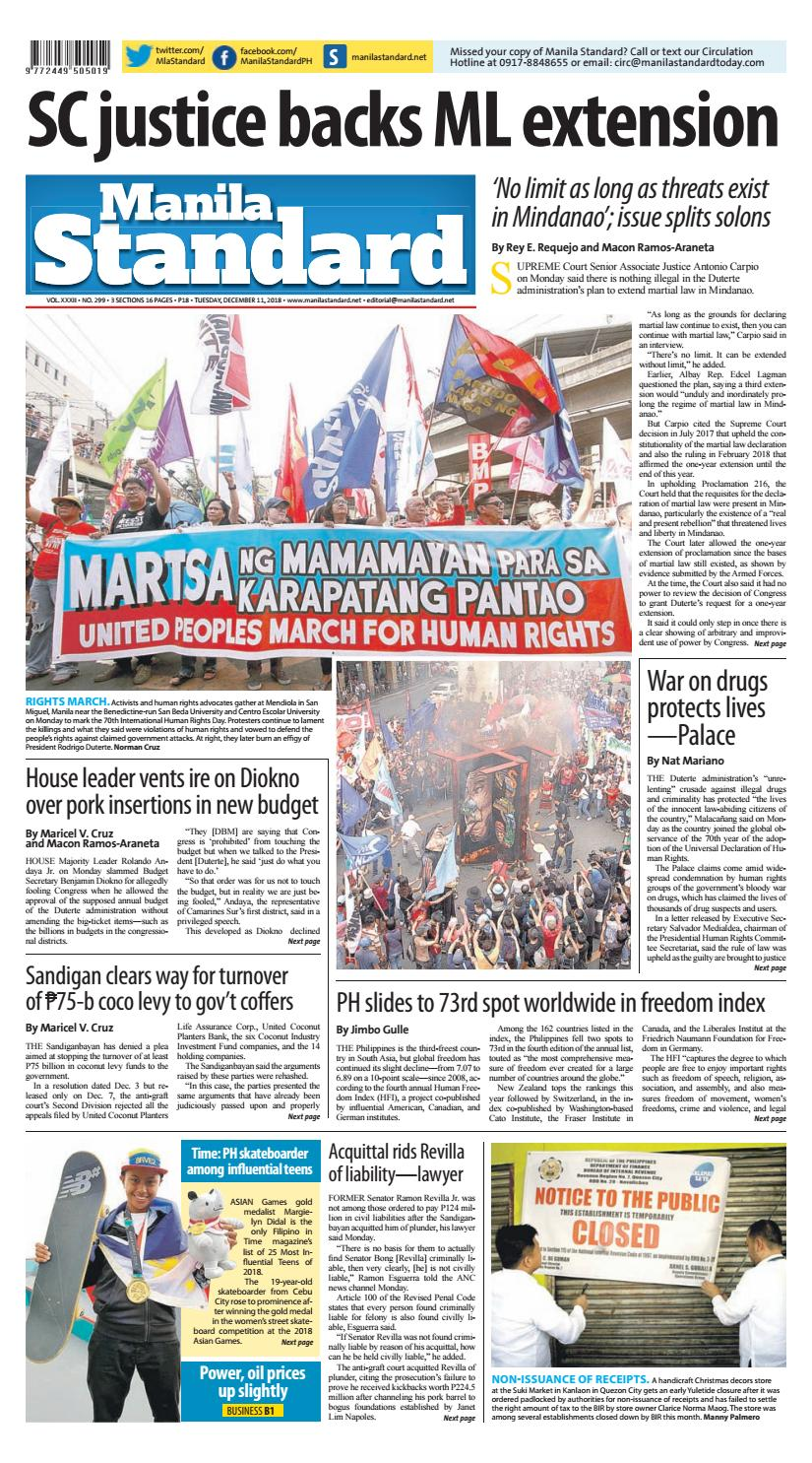 Manila Standard - 2018 December 11 - Tuesday by Manila Standard - issuu