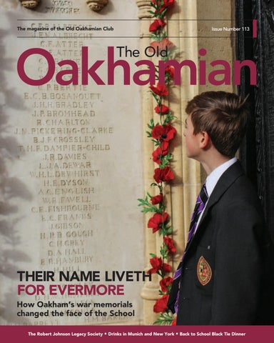 2d2295ae8c798 Old Oakhamian Magazine Issue 113 by Oakham School - issuu