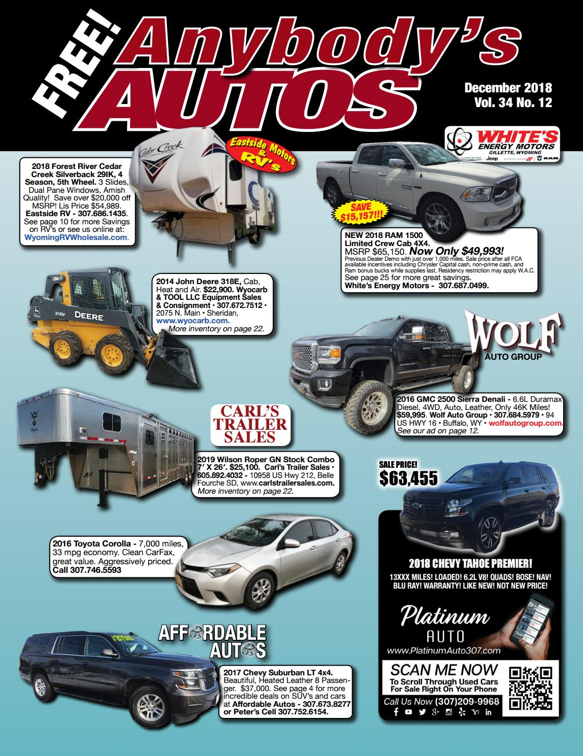 December 2018 by Anybodys Autos - issuu