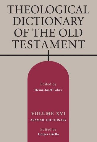 TDOT - A Brief History by Wm  B  Eerdmans Publishing Co  - issuu