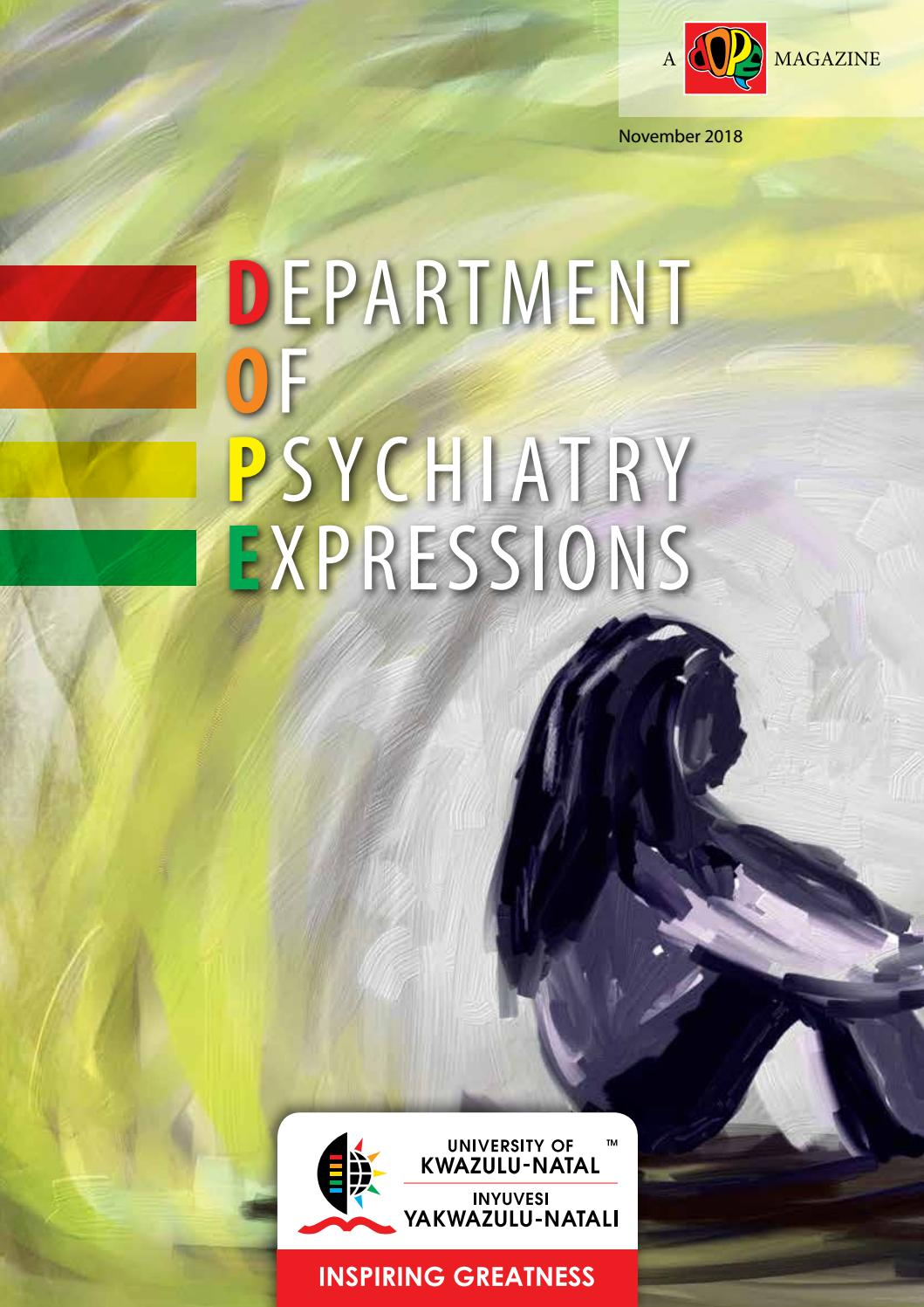 Ukzn Department Of Psychiatry Expressions By Naseemacassimjee Issuu