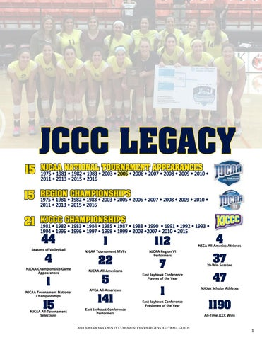 2018 JCCC Volleyball Guide by Chris Gray - issuu