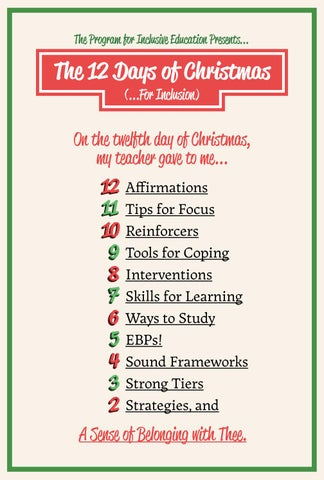 12 Days of Christmas for Inclusion