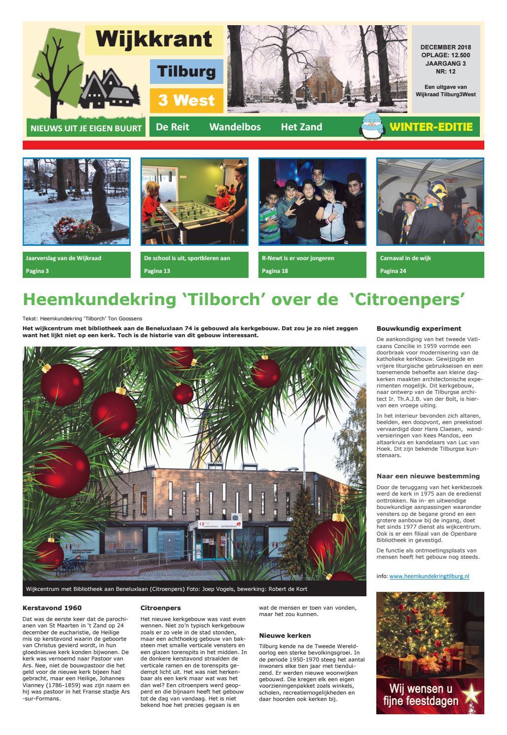 Wijkkrant winter editie december 2018 by Wijkraad Tilburg 3
