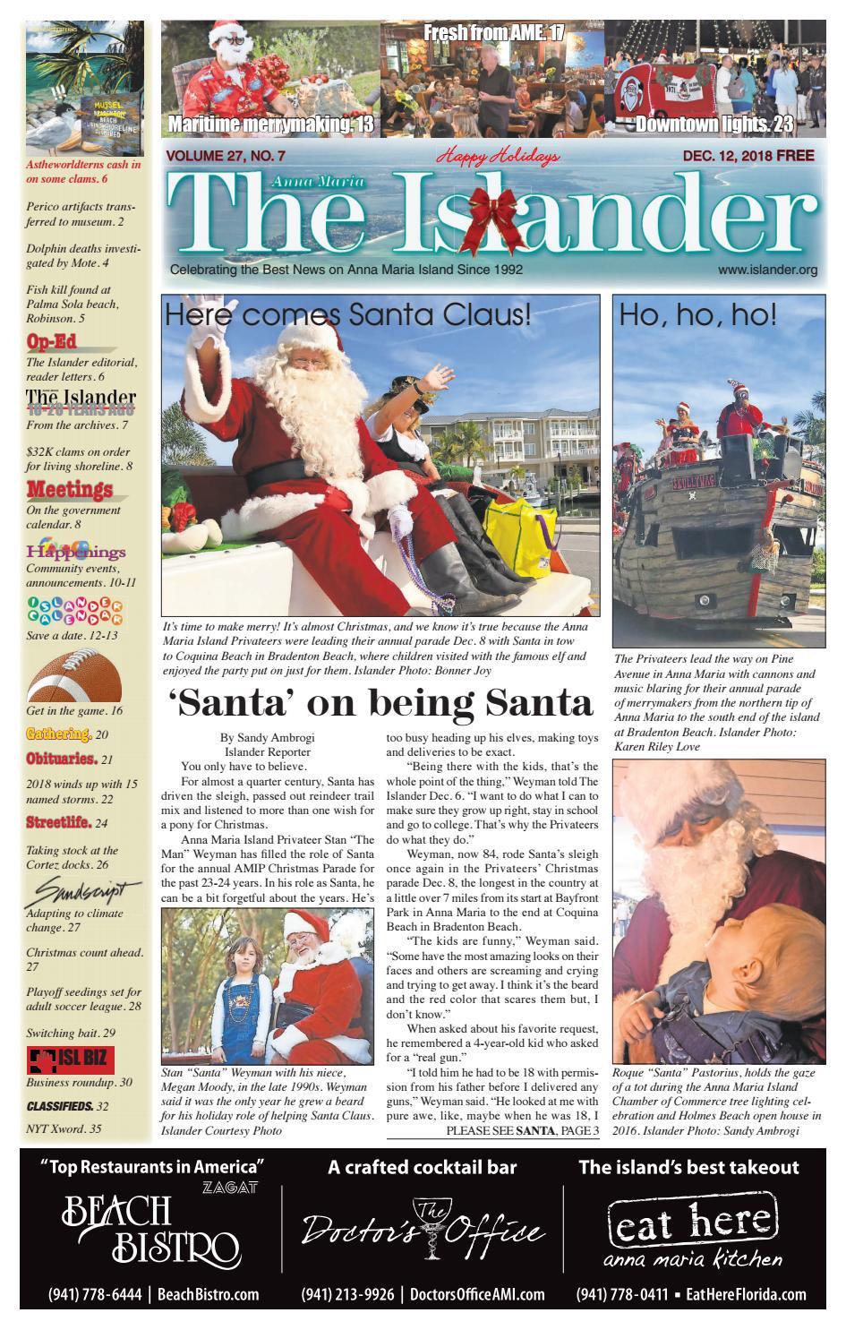 The Islander Newspaper E Edition Wednesday December 12 18 By The Anna Maria Islander Newspaper Issuu