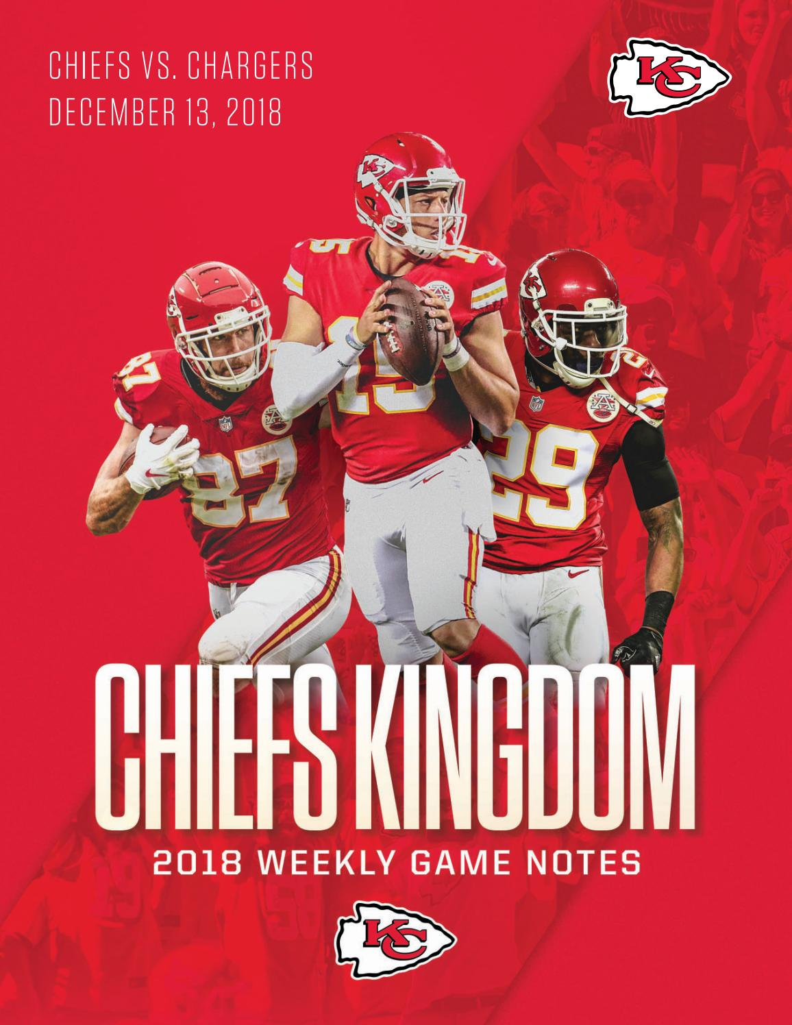 349cbf456 Regular Season Game 14 - Chiefs vs. Chargers (12-13-18) by Kansas City  Chiefs - issuu