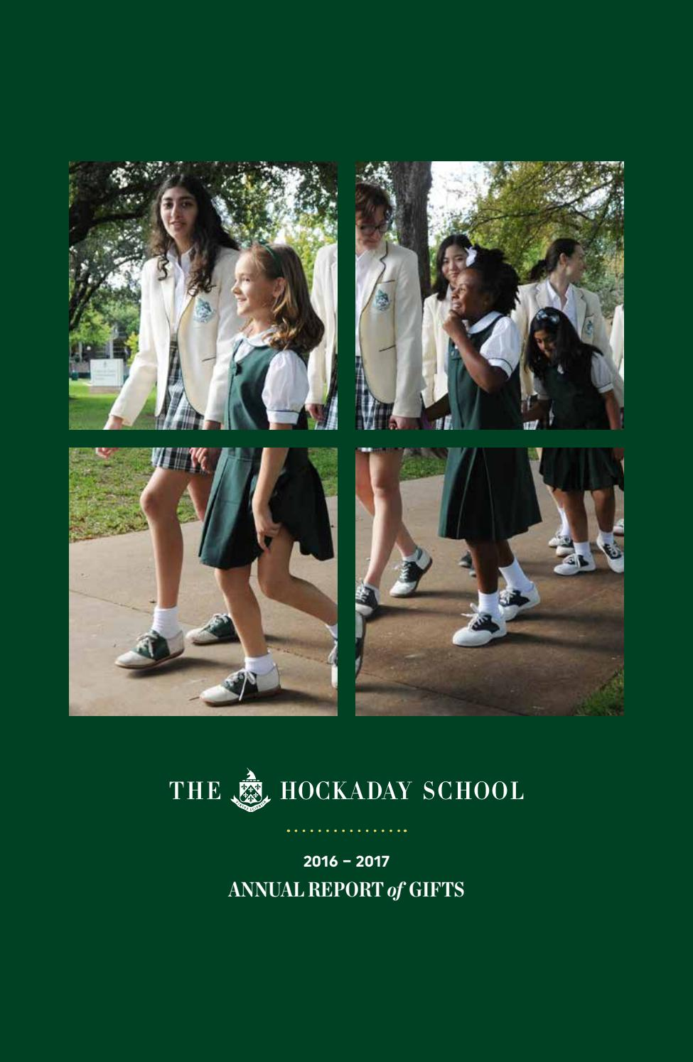 2016 – 2017 Annual Report of Gifts by The Hockaday School - issuu