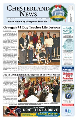 34289bfad Chesterland News 12-12-18 by Geauga County Maple Leaf - issuu