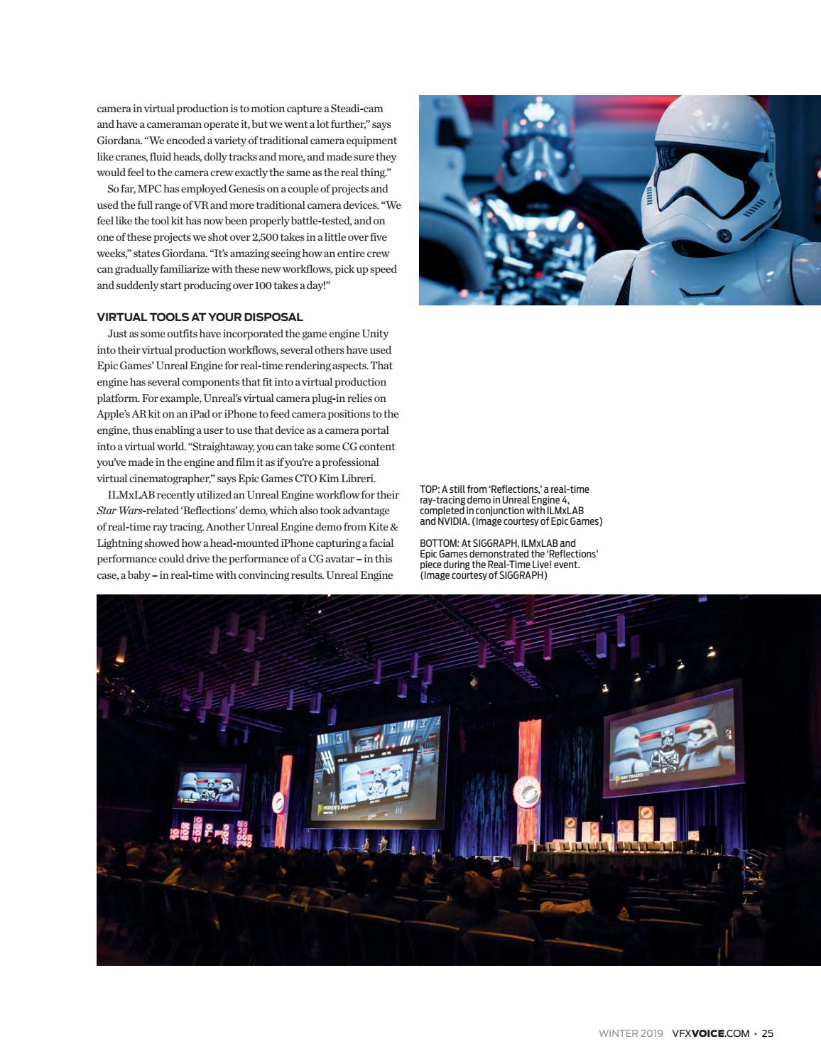 VFX Voice - Winter 2019 Issue by Visual Effects Society - issuu
