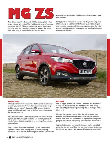 Page 32 of MG ZS review