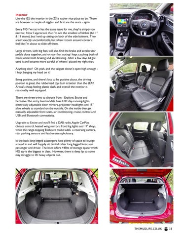 Page 33 of MG ZS review
