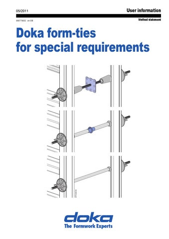 Doka form-ties for special requirements by AcrowNZ - issuu