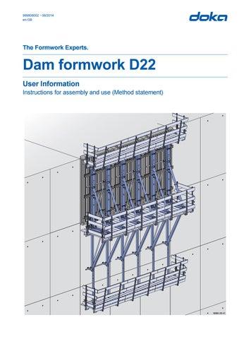 Dam Formwork D22 by AcrowNZ - issuu