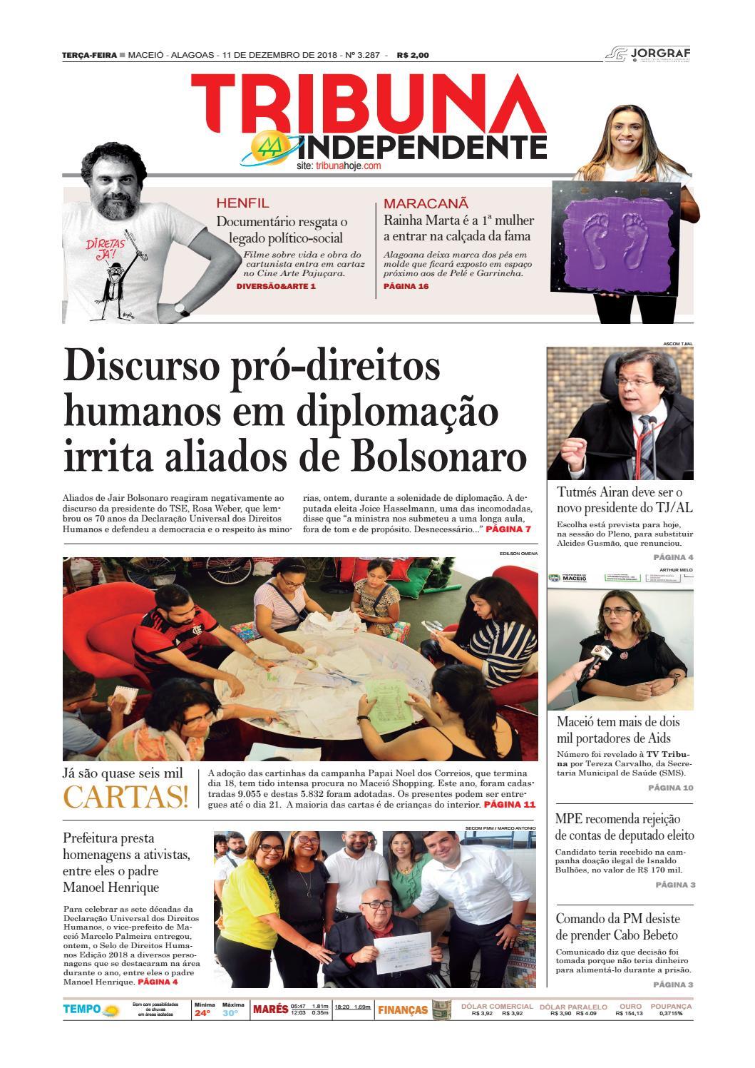 Edição número 3287 - 11 de dezembro de 2018 by Tribuna Hoje - issuu ec58fb6d5c