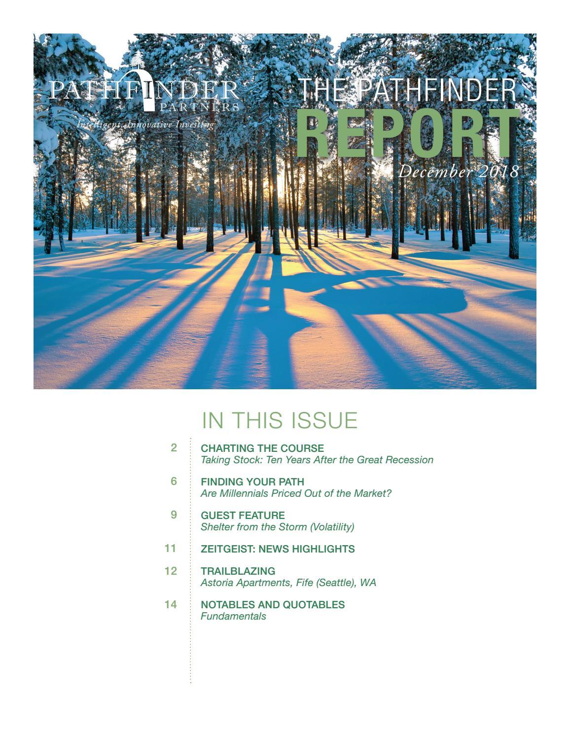 The Pathfinder Report - December 2018