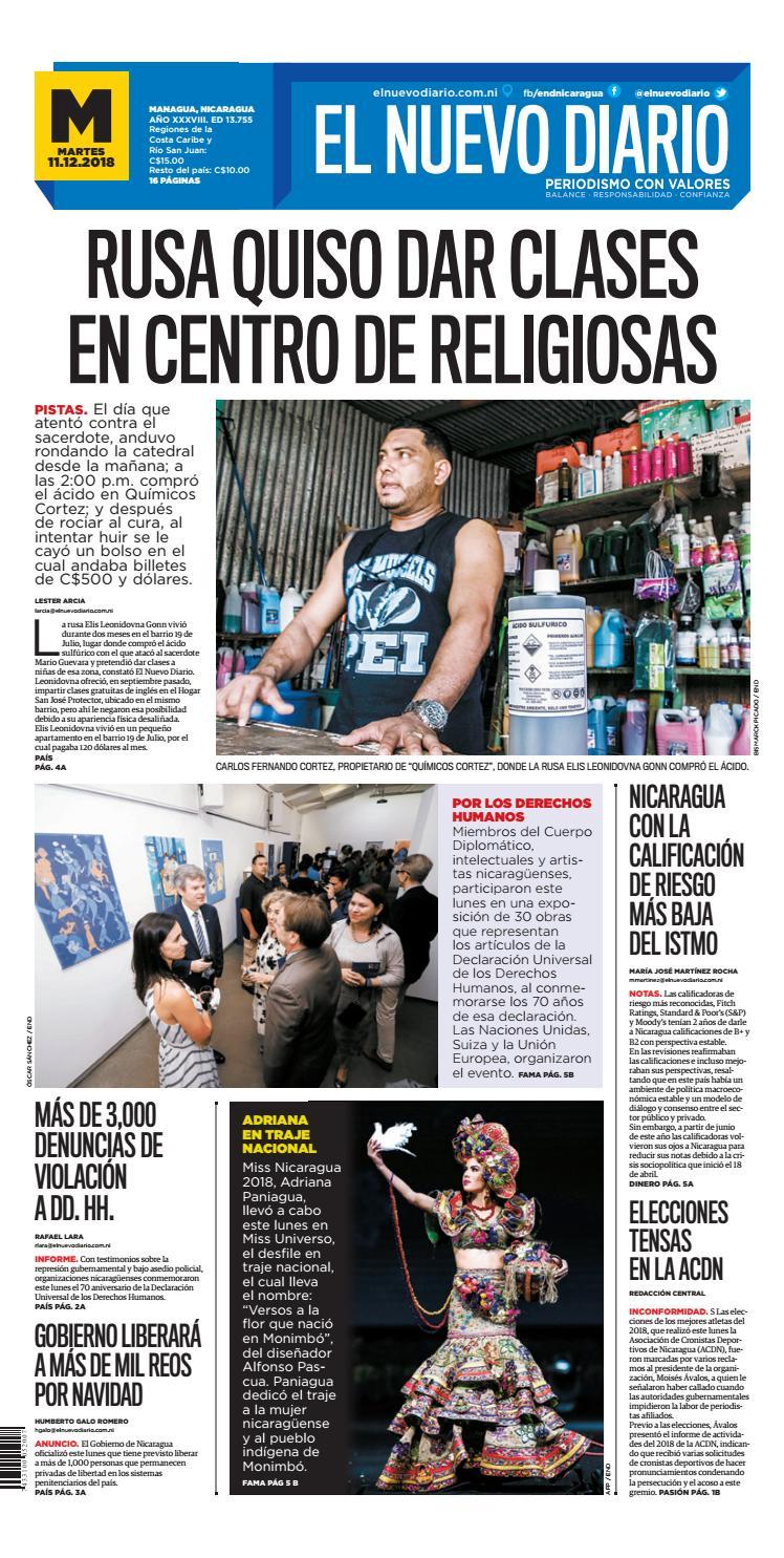 a09f280d0 ePaper El Nuevo Diario 11 de Diciembre 2018 by El Nuevo Diario - issuu