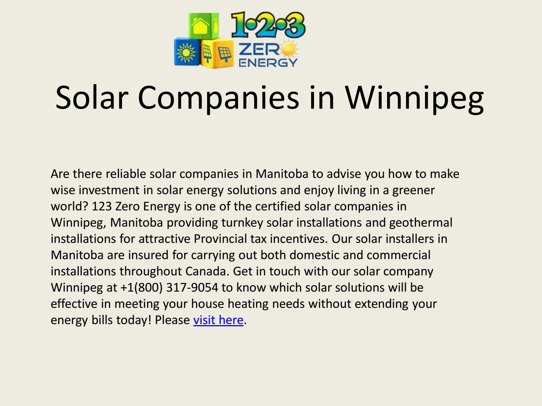 Best Solar Companies >> Best Solar Companies In Winnipeg By 123 Zeroenergy Issuu