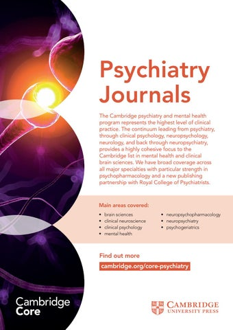 Psychiatry Journals - Unique Selling Points by Cambridge