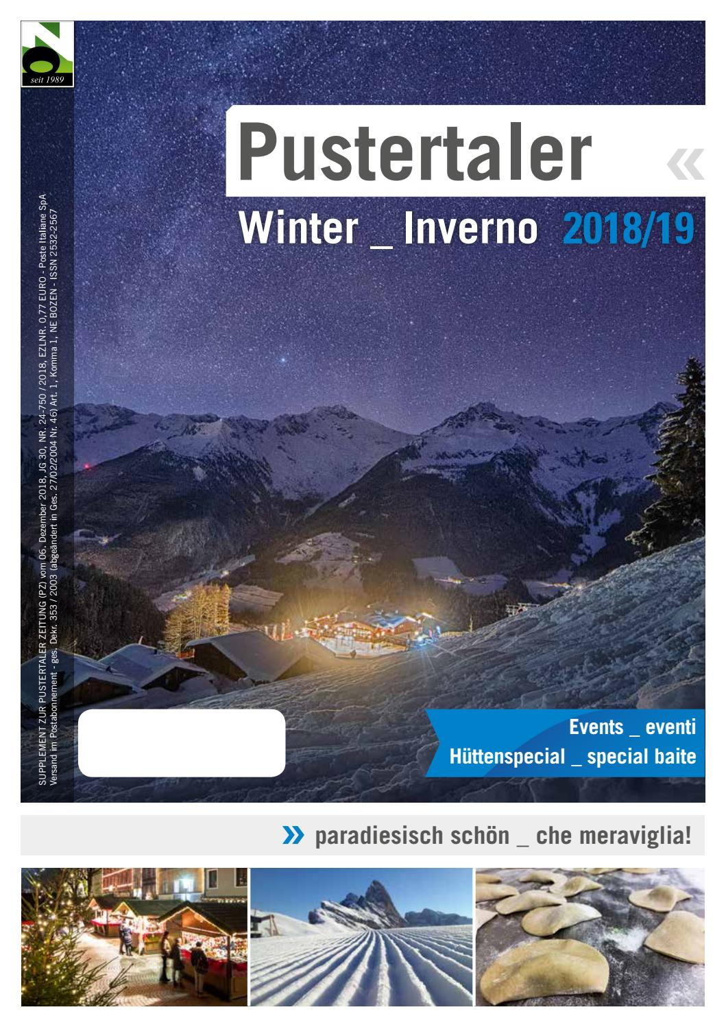 Pusteria inverno 2018 19 by Pustertaler Medien GmbH issuu