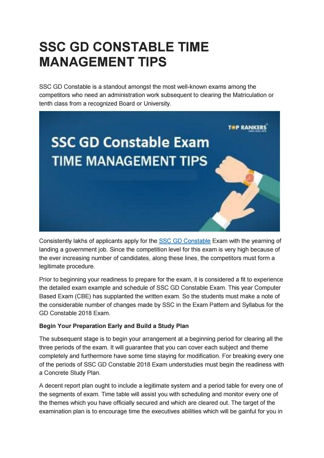 SSC GD Constable Online Test Series by Toprankers - issuu