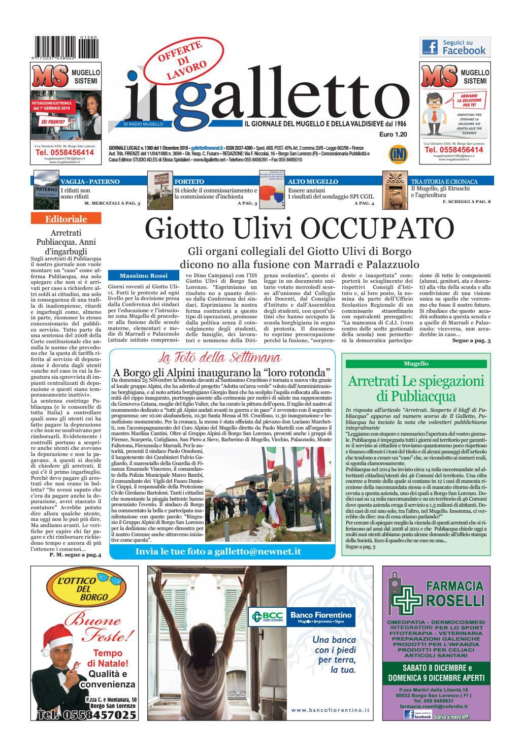 galletto 1380 del 1 dicembre by Il Galletto Giornale - issuu 5042f9b3db4