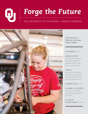 The University of Oklahoma 2018-19 Viewbook by University of