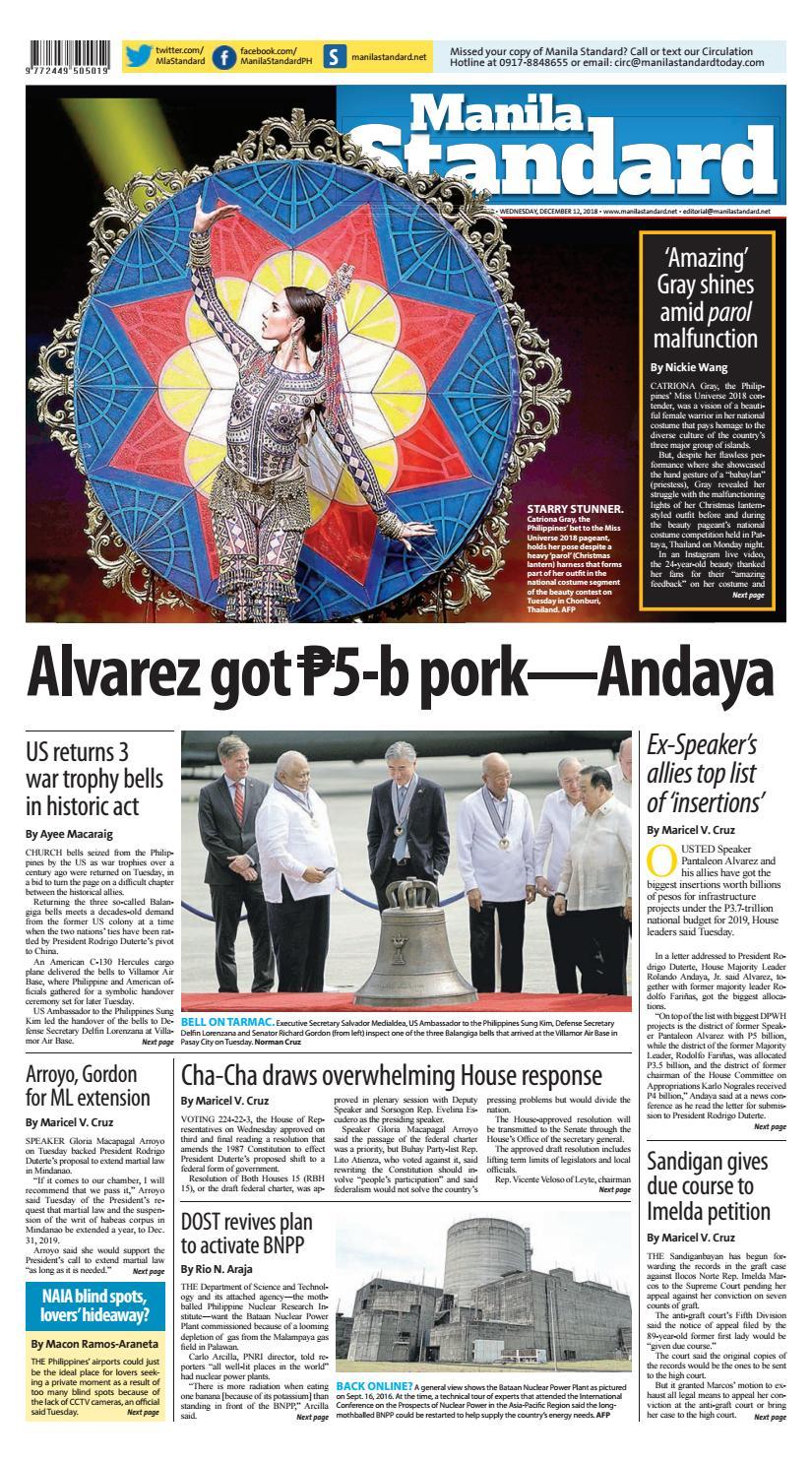 Manila Standard - 2018 December 12 - Wednesday by Manila Standard - issuu