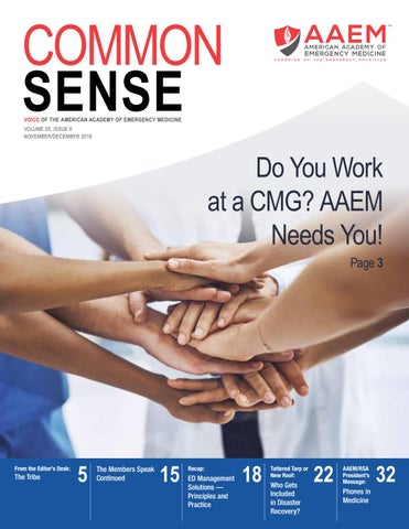 November/December 2018 Common Sense by American Academy of
