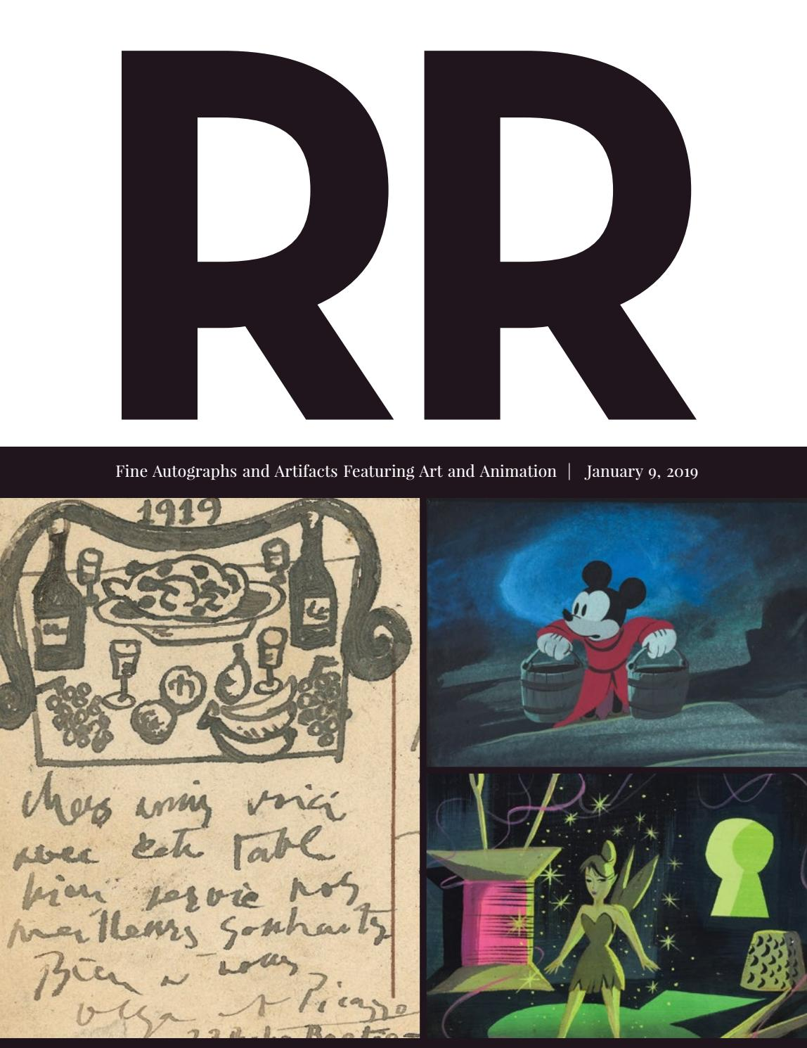 a1cebf9fb461 RR Auction  Fine Autographs and Autographs Featuring Art and Animation by  RR Auction - issuu