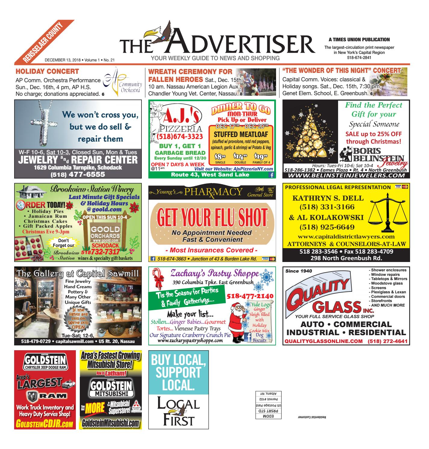 Local First The Advertiser 121318 by Capital Region Weekly