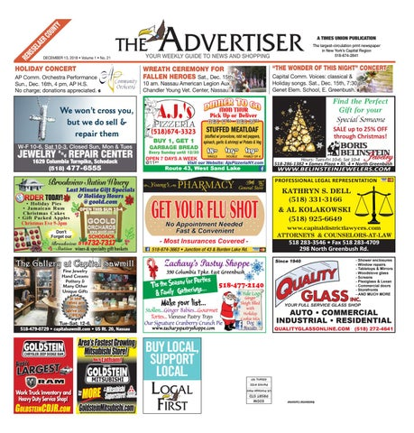 8b8a6ca9146 Local First The Advertiser 121318 by Capital Region Weekly ...