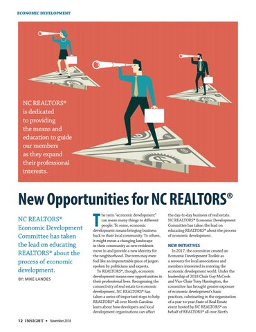 Page 12 of Economic Development: New Opportunities for NC REALTORS®